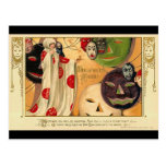 Art Deco - Vintage Halloween Faces Post Cards