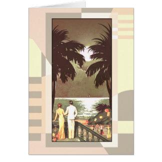 Art Deco Vintage Miami Beach | blush Card