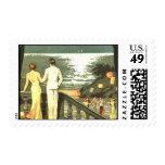 Art Deco Vintage Miami Beach Stamps