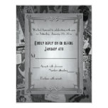 Art Deco Vintage Posters Wedding RSVP Invitation
