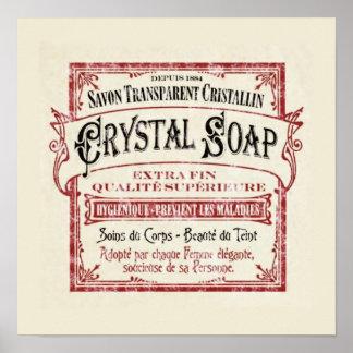 Art Deco Vintage Soap Poster