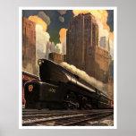 "Art Deco Vintage US Railway Poster print<br><div class=""desc"">Art Deco Vintage US Railway Poster print</div>"