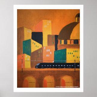 Art Deco Voyage poster print art