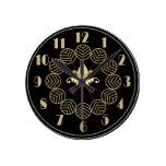 Art déco Wallclock Reloj Redondo Mediano