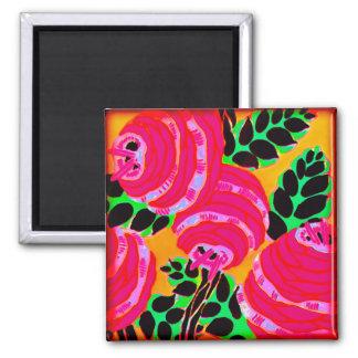 Art Deco Wallflowers - Hot Pink+ (magnet)