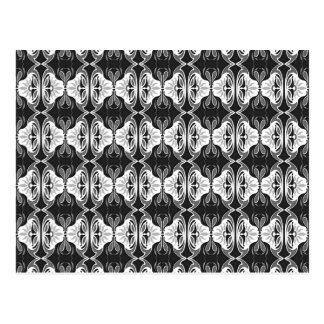 Art Deco wallpaper pattern - black and white Postcard
