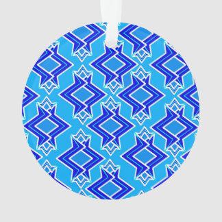 Art Deco Wallpaper Pattern, Cerulean Blue Ornament