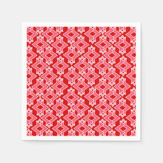 Art Deco Wallpaper Pattern, Dark Red and Pink Napkin