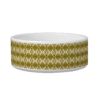 Art Deco wallpaper pattern - gold and white Bowl
