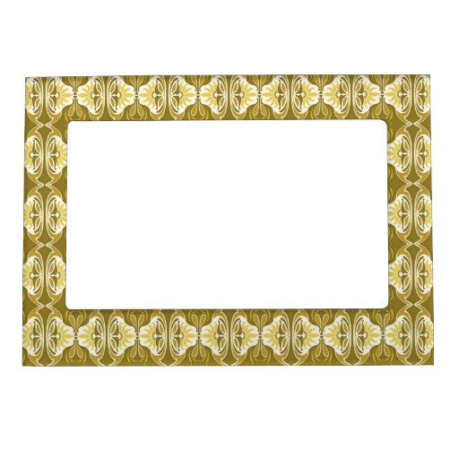 Art Deco Wallpaper Pattern Gold And White Magnetic