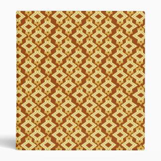 Art Deco Wallpaper Pattern, Golden Brown Vinyl Binders