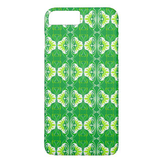Art Deco wallpaper pattern - green and white iPhone 7 Plus Case