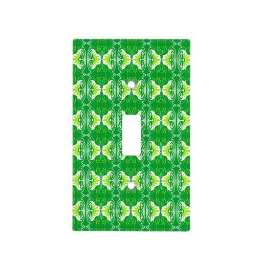 Art Deco wallpaper pattern - green and white Light Switch ...