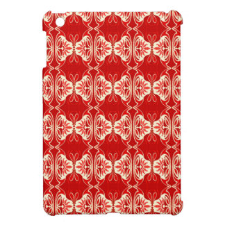 Art Deco wallpaper pattern - red and white iPad Mini Cases