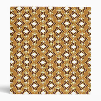 Art Deco Wallpaper Pattern, Tan and Brown Vinyl Binders