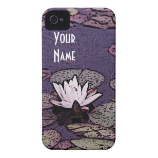 art deco water lily pond  phone case