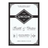 Art Deco Wedding 5x7 Paper Invitation Card