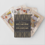 "Art Deco Wedding Bicycle Playing Cards<br><div class=""desc"">Vintage art deco inspired wedding design by Shelby Allison.</div>"