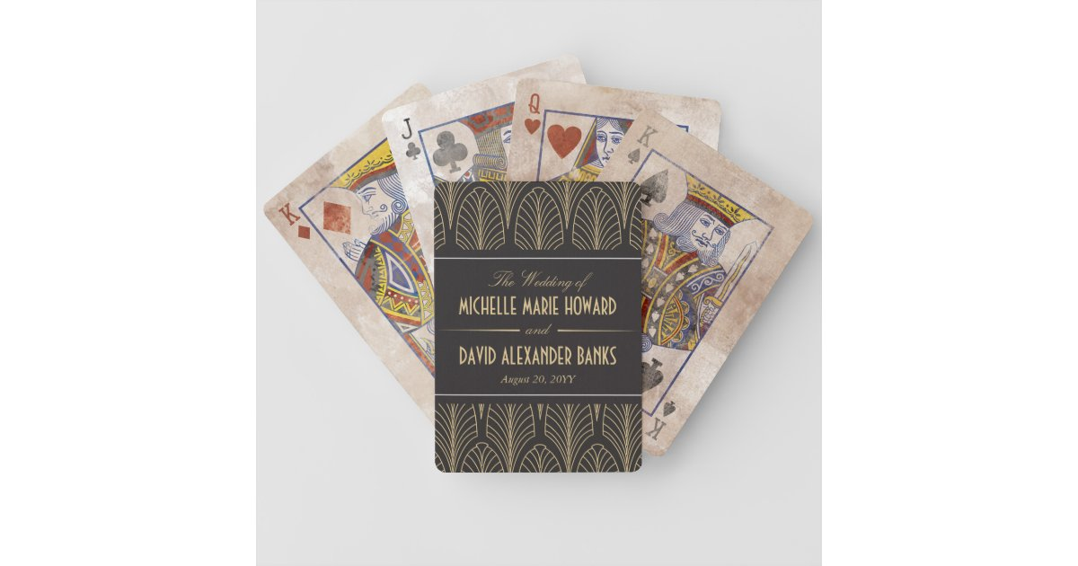 Art Deco Wedding Bicycle Playing Cards Zazzle Com