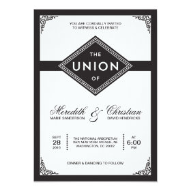 Art Deco Wedding Invitations Custom Wedding Invitations Online