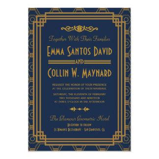 "Art Deco Wedding Invitations 5"" X 7"" Invitation Card"