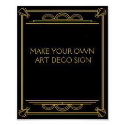 Art Deco Wedding or Party Sign make your own