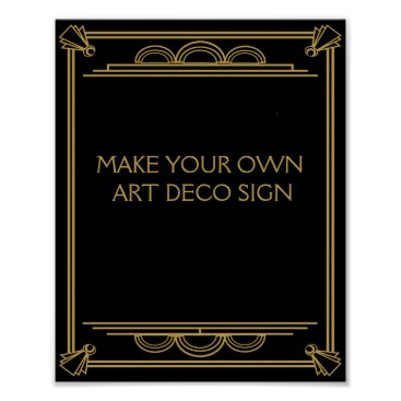 TheArtyApples Art Deco Wedding or Party Sign make your own
