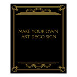 Art Deco Wedding or Party Sign make your own Poster