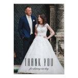 Art Deco Wedding Photo Thank You Cards