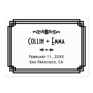 Art Deco Wedding Place Cards Business Cards