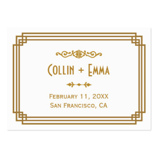 Art Deco Wedding Place Cards Business Card Template