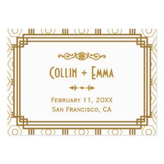 Art Deco Wedding Place Cards Business Card Templates