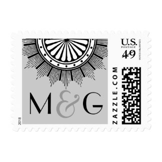 Art Deco Wedding Postage