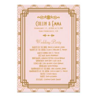 Art Deco Wedding Programs Invitation