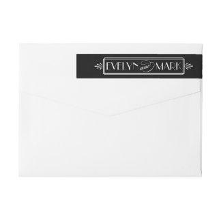 Art Deco Wedding | Return Address Wrap Around Label