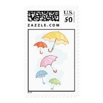 Art Deco Wedding Shower Umbrella Postage