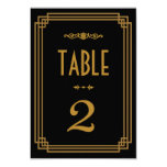 Art Deco Wedding Table Numbers Custom Invites