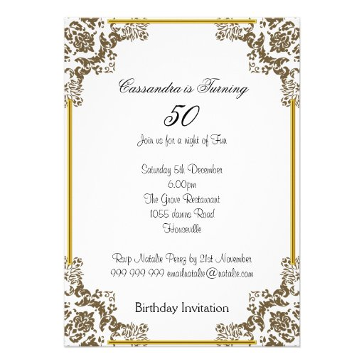 50Th Birthday Party Invitation Ideas is beautiful invitation design