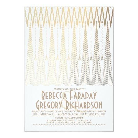 Art Deco Wedding Invitation: Art Deco Wedding Invitations & Announcements