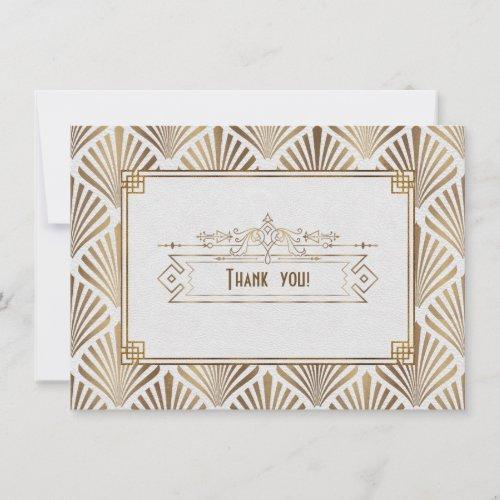 Art Deco White Gatsby 1920s Style Thank You