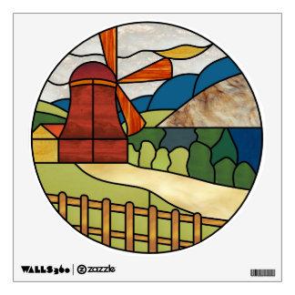 Art Deco Windmill Decal Room Stickers