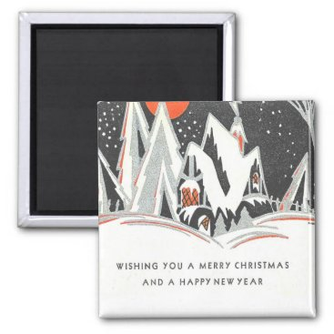Professional Business Art Deco Winter Holiday Magnet