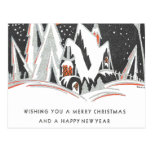 Art Deco Winter Holiday Post Cards