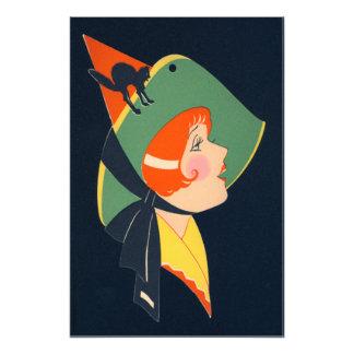 Art Deco Witch Hat Black Cat Photo Print