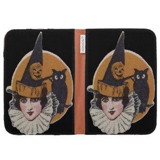 Art Deco Witch Jack O Lantern Pumpkin Owl Kindle Keyboard Case