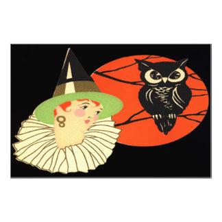 Art Deco Witch Owl Full Moon Art Photo