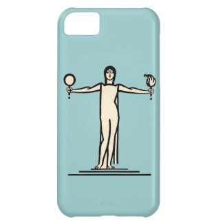 Art Deco Woman Bold Graphic Design Model Pose Cover For iPhone 5C