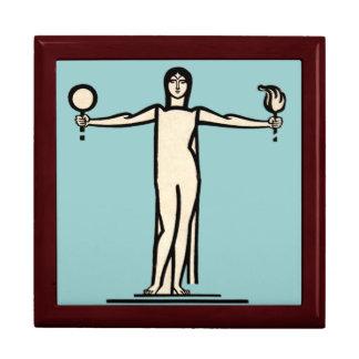 Art Deco Woman Bold Graphic Design Model Pose Gift Box