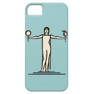 Art Deco Woman Bold Graphic Design Model Pose iPhone 5 Cases
