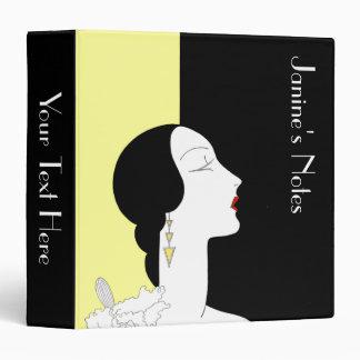 Art Deco Woman in Profile Binder